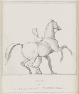 Design for a Wellington Testimonial (Arthur Wellesley, 1st Duke of Wellington), by John ('HB') Doyle, printed by  Alfred Ducôte, published by  Thomas McLean - NPG D41539