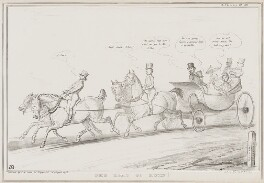 The Road to Ruin!, by John ('HB') Doyle, printed by  Alfred Ducôte, published by  Thomas McLean - NPG D41544