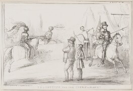 Practising for the Tournament!, by John ('HB') Doyle, printed by  Alfred Ducôte, published by  Thomas McLean - NPG D41545