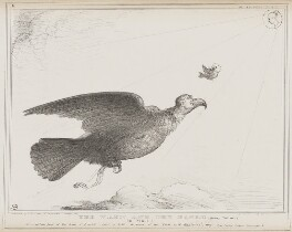 The Wren and the Eagle (Daniel O'Connell; Thomas Spring Rice, 1st Baron Monteagle of Brandon; Queen Victoria), by John ('HB') Doyle, printed by  Alfred Ducôte, published by  Thomas McLean - NPG D41547