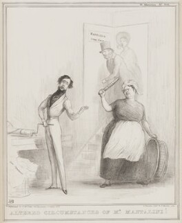 Altered Circumstances of Mr Mantalini!, by John ('HB') Doyle, printed by  Alfred Ducôte, published by  Thomas McLean - NPG D41550