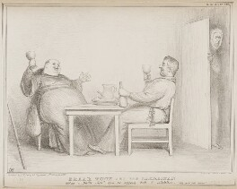 Friar Tuck and the Sacristan, by John ('HB') Doyle, printed by  Alfred Ducôte, published by  Thomas McLean - NPG D41553