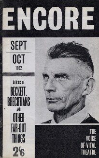 'Encore Magazine' (Samuel Barclay Beckett), by Jerry Bauer, 1962 - NPG x136874 - © Lebrecht Music & Arts