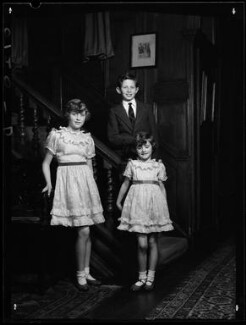 The children of 1st Baron Killearn, by Navana Vandyk, 15 January 1953 - NPG x98787 - © National Portrait Gallery, London