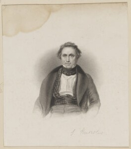 James Sheridan Knowles, by William Finden, published by  Edward Moxon, after  Thomas Charles Wageman - NPG D42520