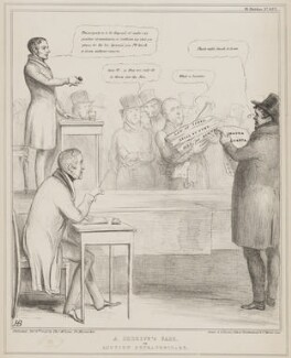 A Sherriff's Sale, by John ('HB') Doyle, printed by  Alfred Ducôte, published by  Thomas McLean, published 6 February 1840 - NPG D41559 - © National Portrait Gallery, London