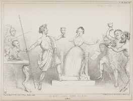 Comus and the Lady, by John ('HB') Doyle, printed by  Alfred Ducôte, published by  Thomas McLean - NPG D41566