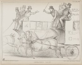 Omnibus Race, by John ('HB') Doyle, printed by  Alfred Ducôte, published by  Thomas McLean - NPG D41567