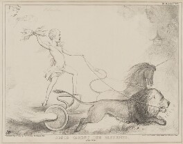 Cupid Taming the Elements (Henry John Temple, 3rd Viscount Palmerston), by John ('HB') Doyle, printed by  Alfred Ducôte, published by  Thomas McLean - NPG D41568