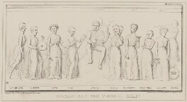 Apollo and the Tuneful Nine, by John ('HB') Doyle, printed by  Alfred Ducôte, published by  Thomas McLean, published 1 May 1840 - NPG D41570 - © National Portrait Gallery, London