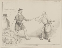 Chinese Jugglers (John Bull; Sir James Robert George Graham, 2nd Bt; Henry John Temple, 3rd Viscount Palmerston), by John ('HB') Doyle, printed by  Alfred Ducôte, published by  Thomas McLean - NPG D41571