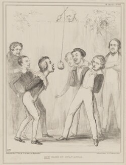 New Game of Snap-Apple, by John ('HB') Doyle, printed by  Alfred Ducôte, published by  Thomas McLean, published 1 July 1840 - NPG D41580 - © National Portrait Gallery, London