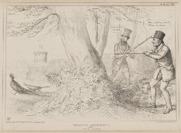 Vacation Amusements. (No.1.) Pheasant Shooting!, by John ('HB') Doyle, printed by  Alfred Ducôte, published by  Thomas McLean, published 14 September 1840 - NPG D41585 - © National Portrait Gallery, London