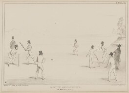 Vacation Amusements. (No.3.) Cricket. (A Long Innings)., by John ('HB') Doyle, printed by  Alfred Ducôte, published by  Thomas McLean - NPG D41587