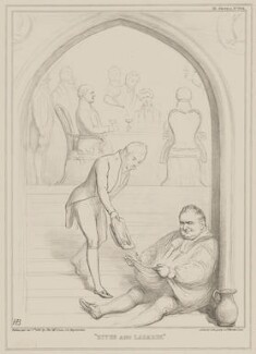 Dives and Lazarus (Charles James Blomfield; William Howley; Sydney Smith), by John ('HB') Doyle, printed by  Alfred Ducôte, published by  Thomas McLean - NPG D41590