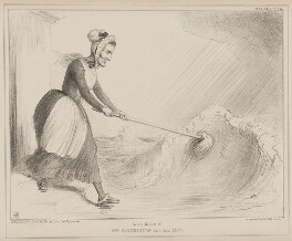 Newest Edition of Mrs Partington and Her Mop (Hugh Fortescue, 2nd Earl Fortescue; Daniel O'Connell), by John ('HB') Doyle, printed by  Alfred Ducôte, published by  Thomas McLean, published 7 October 1840 - NPG D41591 - © National Portrait Gallery, London