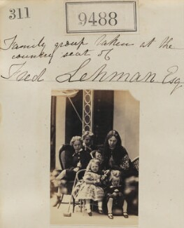 'Family group taken at the country seat of Fred Lehman Esq', possibly by or copy by Camille Silvy - NPG Ax59296