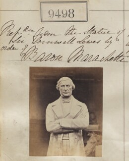Statue of Sir George Cornewall Lewis, 2nd Bt, by Camille Silvy, after  Carlo Marochetti - NPG Ax59306