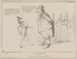 A New Illustration of the Fable of the Bull and the Frog, by John ('HB') Doyle, printed by  General Lithographic Establishment, published by  Thomas McLean - NPG D41599