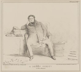 A Brown Study (Daniel O'Connell), by John ('HB') Doyle, printed by  General Lithographic Establishment, published by  Thomas McLean - NPG D41600