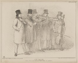 The Waits, by John ('HB') Doyle, printed by  General Lithographic Establishment, published by  Thomas McLean - NPG D41602