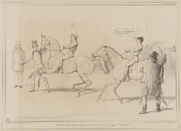 Start for the Great Westminster Trial Stakes!, by John ('HB') Doyle, published by  Thomas McLean, printed by  General Lithographic Establishment - NPG D41604