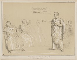 Cicero in Catilinam, by John ('HB') Doyle, published by  Thomas McLean, printed by  General Lithographic Establishment - NPG D41608