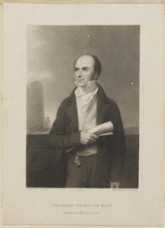 Charles Phillips, by Thomas Woolnoth, published by  Simpkin and Marshall, after  Thomas Charles Wageman - NPG D42529