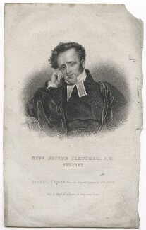 Joseph Fletcher, by John Thompson, published by  Westley & Davis, after  John Robert Wildman - NPG D42640