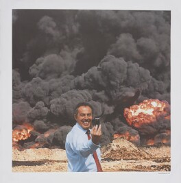 Tony Blair ('Photo Op'), by Peter Kennard, by  Cat Phillipps - NPG D42643