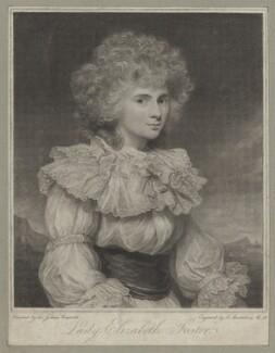 Elizabeth Christiana Cavendish (née Hervey), Duchess of Devonshire when Lady Elizabeth Foster, by Francesco Bartolozzi, after  Sir Joshua Reynolds - NPG D42647