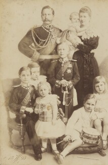 'Emperor and Empress of Germany and family', by Arthur Jünger, 1893 - NPG P1700(1a) - © National Portrait Gallery, London
