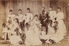 'Wedding group', by Lafayette (Lafayette Ltd), 6 July 1893 - NPG P1700(2c) - © National Portrait Gallery, London