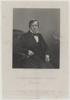 William Scholefield, by Daniel John Pound, published by  The London Joint Stock Newspaper Company, after  Whitlock - NPG D42658