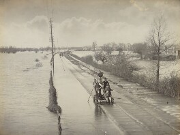 'Great Western Railway between Oxford and Kennington - Floods going down after closing the line 3 days', by Unknown photographer - NPG P1700(6a)