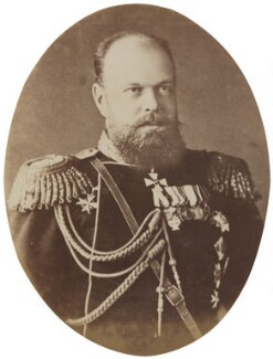 Alexander III, Emperor of Russia, by Sergey Lvovich Levitsky, and  Rafail Levitsky, circa 1885 - NPG P1700(6b) - © National Portrait Gallery, London