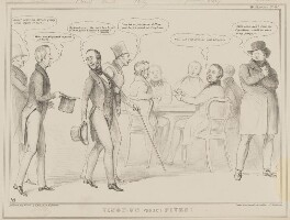 Vingt-Un Versus Fives!, by John ('HB') Doyle, published by  Thomas McLean, printed by  General Lithographic Establishment, published 5 May 1841 - NPG D41613 - © National Portrait Gallery, London