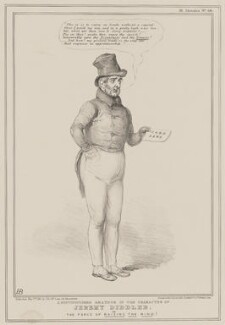 Jeremy Diddler (William Lamb, 2nd Viscount Melbourne), by John ('HB') Doyle, published by  Thomas McLean, printed by  General Lithographic Establishment - NPG D41614
