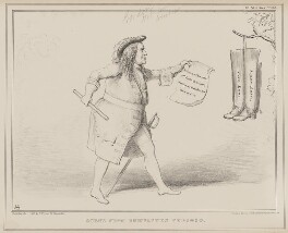 Scene from Bumbastes Furioso (Robert Gordon), by John ('HB') Doyle, published by  Thomas McLean, printed by  General Lithographic Establishment - NPG D41616