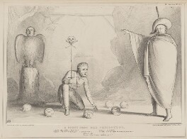 A Scene from Der Freischutz (Richard Lalor Sheil; William Lamb, 2nd Viscount Melbourne; Daniel O'Connell), by John ('HB') Doyle, published by  Thomas McLean, printed by  General Lithographic Establishment - NPG D41619