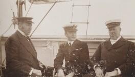 Samuel Mackenzie Hammond; Frederick William Eggleden; Mr Hawkins, by Unknown photographer - NPG Ax137107