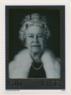 Queen Elizabeth II, by Chris Levine, by  Rob Munday, printed by  Cartor Security Printing, issued by  Jersey Post - NPG D42660
