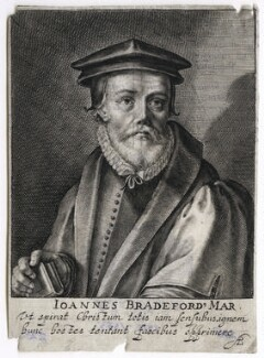 John Bradford, by Magdalena de Passe, and by  Willem de Passe - NPG D42662