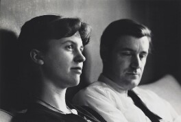 Sylvia Plath; Ted Hughes, by Rollie McKenna - NPG x137160