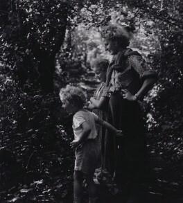 Caitlin Macnamara Thomas; Aeronwy Bryn Thomas-Ellis (née Thomas); Colm Thomas, by Rollie McKenna - NPG x137171