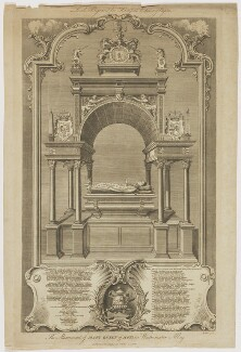 The Monument of Mary, Queen of Scots in Westminster Abbey, by John Goldar, after  Hubert-François Gravelot (né Bourguignon) - NPG D42668