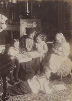 Princess Beatrice of Battenberg with her children, probably by Mary Steen - NPG P1700(8b)