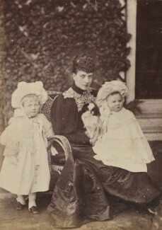 Princess Alexandra, Princess Arthur of Connaught; Queen Alexandra; Princess Maud, Countess of Southesk, by W. & D. Downey - NPG P1700(8c)
