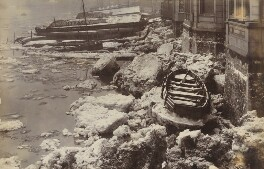 'The Ice in the Thames at Greenwich', by Unknown photographer - NPG P1700(15)