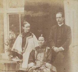 Louisa Katherine Stewart (née Smyly); Mrs Ahok; Robert Warren Stewart, by Unknown photographer, 1895 or before - NPG P1700(18a) - © National Portrait Gallery, London